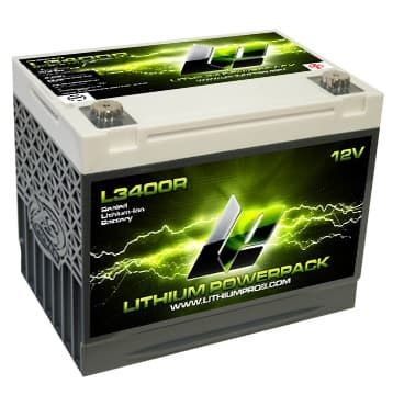 Lithium Pros 12V Lithium Powerpack with BMS with REVERSE POLARITY