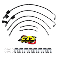 EGR Brakes Kevlar Braided Brake Hose Kit for 2012 Ram 2500 & 3500 4WD-6 Pc. Kit