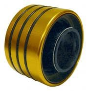 Winters Performance Axle Housing Seal, Inner, O-Ring Outer Seal, Aluminum, Gold Anodize, 2.500 in ID Aluminum Axle Tube