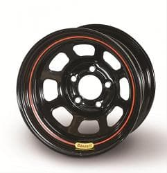 Bassett Racing Rolled Black Powdercoated Wheels 57RF375