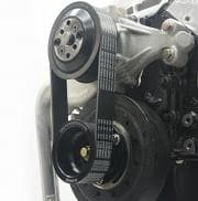 KRC 10-rib Belt and Pulley Assembly-Dirt Late Model-25% Reduction