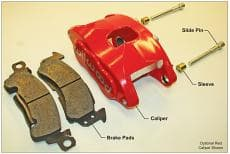 Wilwood Brake Caliper, D52, 2 Piston, Forged Aluminum, Red