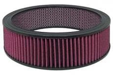 Hi-Flow Round Air Filter Element Cleanable / Reusable 14x3, 14X4 OR 14X5