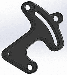 BICKNELL Small Block Chevy Head Mount Power Steering Mount