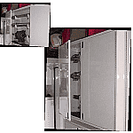 "Wall Cabinet, Rear End, 72.0"" x 72.0"" Double Door, White Powder Coat"