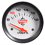 QuickCar Extreme Volt Meter- Color Changing Gauges