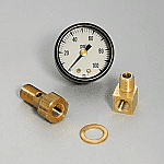 B&M Analog Fuel Pressure Gauge Set
