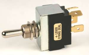 K-4 TOGGLE SWITCH metal lever-double pole--12-200