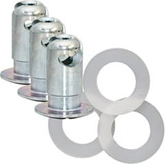 "VALKEN Z-button 7/16""x0.600"" 3-pack w/ Washers"