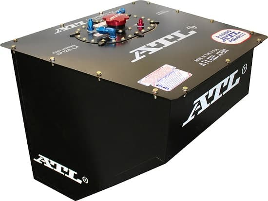 ATL Racing Black Widow Wedge FIA Approved Fuel Cell-Legal for LUCAS, IMCA, UMP, Dirt Car, LM & Modified 18 Gallon (CLONE)