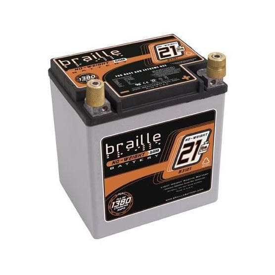 Braille Battery B3121- No-Weight Standard Batteries