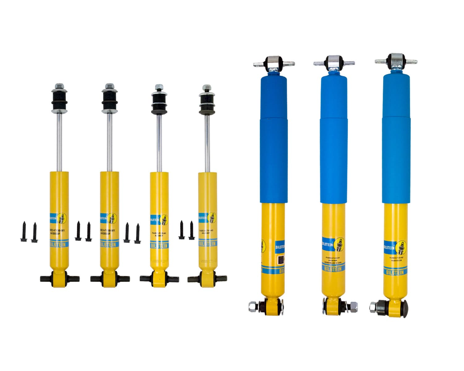 Bilstein Stock Car Shock Package, F4-SE7-F565-M0 1978-88 Metric Chassis Street Stock Shock Pack