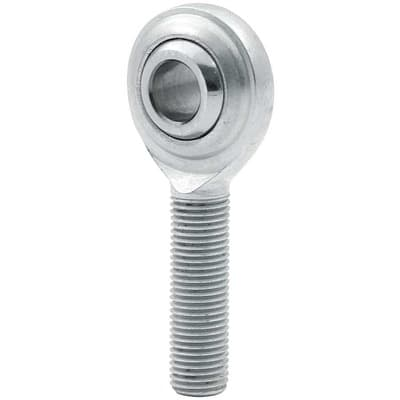 CTS Rod End, Standard, Spherical, 1/2 in Bore, 1/2-20 in Right Hand Male Thread, Steel, Zinc Oxide, Each