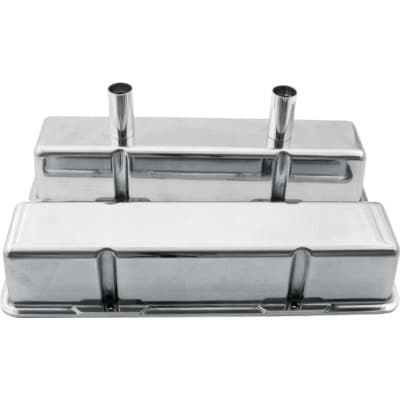 CTS POLISHED ALUMINUM SBC VALVE COVERS