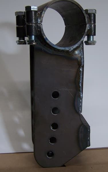 CTS Extra Long Left Trailing Arm Bracket-7.5 Inch Down