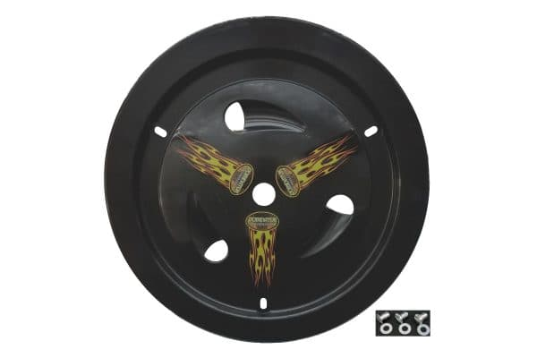 DOMINATOR DOMED VENTED WHEEL COVERS -REAL WHEELS