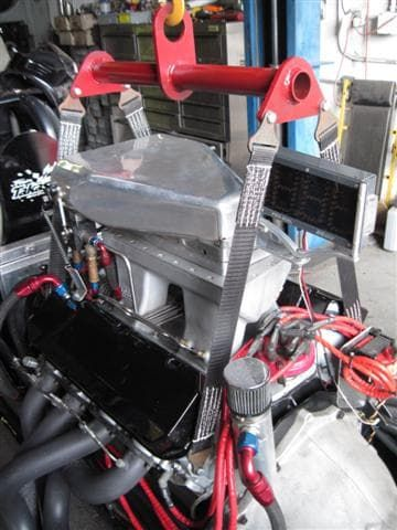 Dragster Engine Lifting Strap System