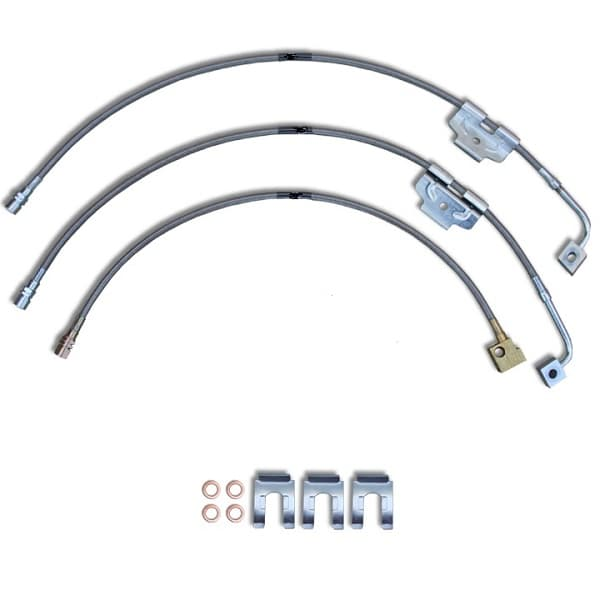 KEVLAR BRAIDED STAINLESS STEEL BRAKE HOSE KITS-DODGE PICKUPS 2002-2015