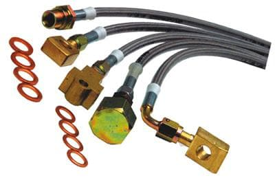 EGR 1999-2004 F450 and F550 Kevlar Braided S/S 5 Pc. set P/U and Cab & Chassis, F 47 Motor Home
