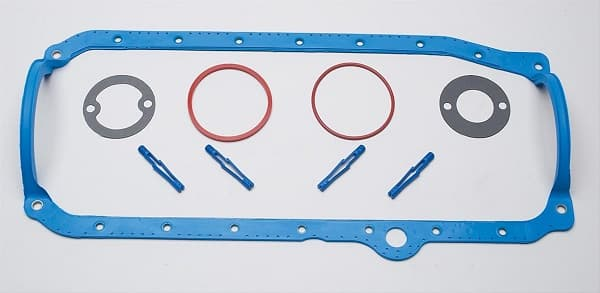 FELPRO Oil Pan Gasket, 1 Piece, Steel Core Silicone Rubber, 1986-2001, 604 Crate Engine, SBC