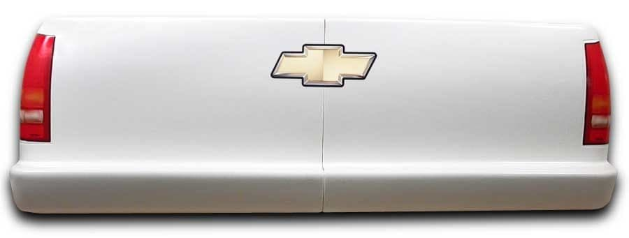 FIVESTAR Bumper Cover, 2 Piece Complete, Rear, Short Track Truck, Molded Plastic, Chevy C1500 2002