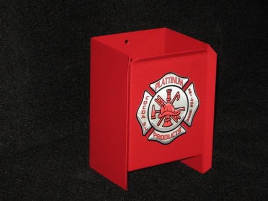 Plattinum Products Fire Extinguisher Holder-Powder Coated Red for Safety