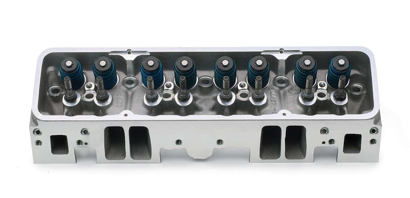 GM Performance 604 Crate Bow Tie Logo Fast Burn Cylinder Heads- NEW-3RD DESIGN