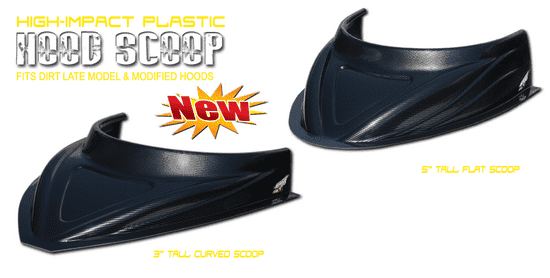 """PERFORMANCE BODIES MD3 CURVED 3"""" Hood Scoop Carbon Fiber Appearance"""