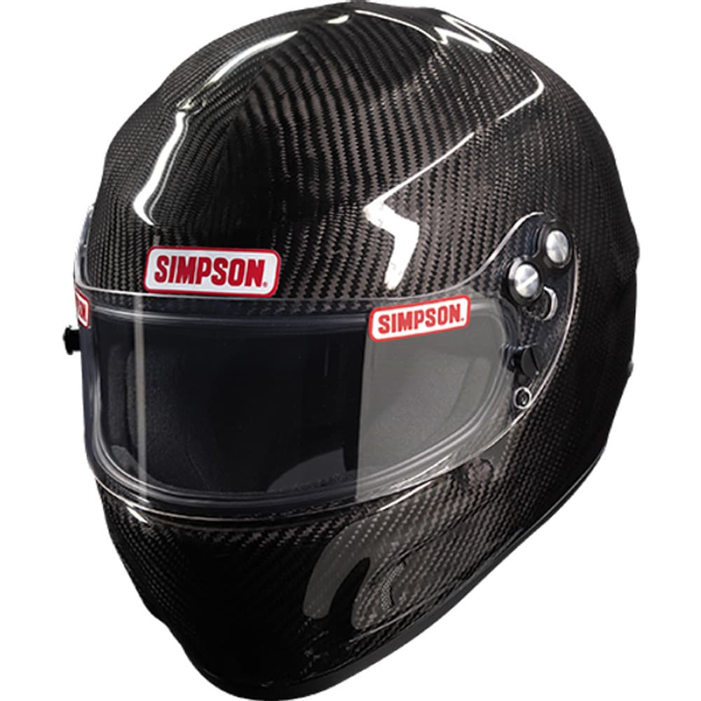 SIMPSON Helmet, Devil Ray, Snell SA2020, Head and Neck Support Ready, Carbon Fiber,