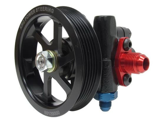 "KRC Cast Iron Power Steering Pump- With 4.2"" Serpentine Pulley"