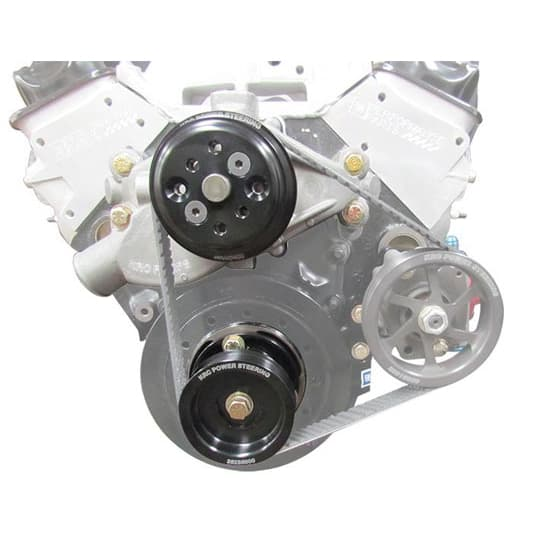 KRC Serpentine Drive Kit-SBC Chevy, Block Mt. with Out P.S Pump