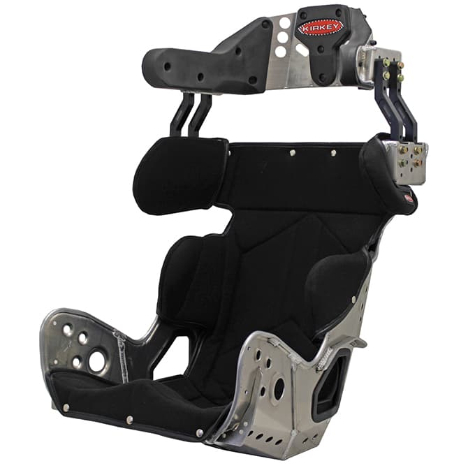 KIRKEY 78 SERIES KIT - SFI 39.2 2018 LATE MODEL DELUXE 18 DEGREE LAYBACK CONTAINMENT SEAT & BLACK COVER