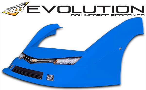 MD3 Evolution Complete LM Combo Nose & Flare Kit with Graphics, EVOLUTION-Flat Right Fender