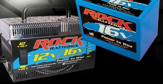 ROCK Battery COMBO 16 2 POST Volt Battery and Charger COMBO SPECIAL