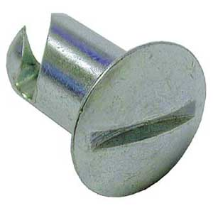 """PanelFast Oval Head Buttons-DZUS Fastners 7/16"""" STEEL"""