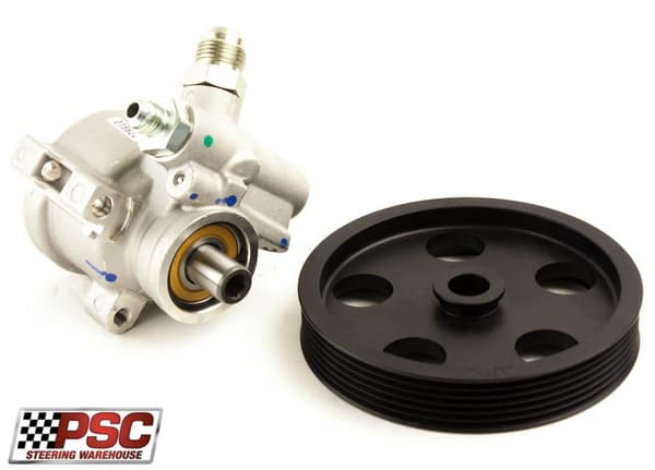 """PSC Pro Series aluminum race pump 1000 psi with 5.5"""" serpentine pulley"""