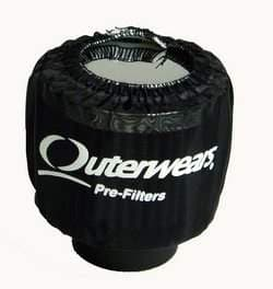 OUTERWEARS BREATHER PREFILTERS, NO TOP, SHIELDED, NON SHIELDED, CRANK BREATHER COVERS,