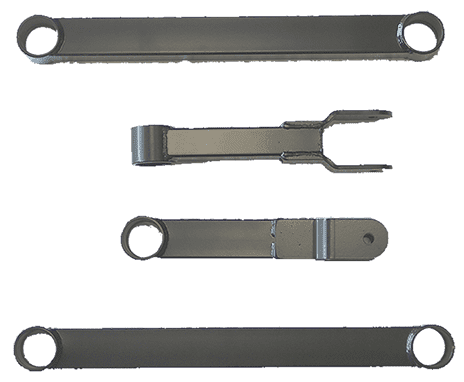 Rear Control Arms for Mid-Sized GM-Street Stock Fabricated Rear Trailing Arms