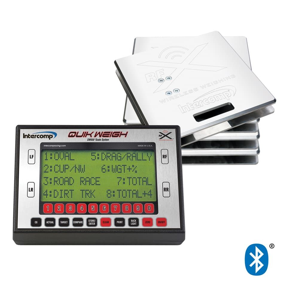 INTERCOMP Vehicle Scale, SW650, Electric, 15 in Square, 1500 lb Capacity Pad, Bluetooth / Wireless, Aluminum, Natural, Kit