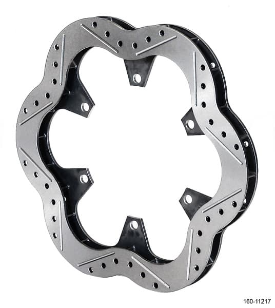 Wilwood Super Alloy Series Lightweight Racing Rotor-Gas Slotted and Cross Drilled 1.25""