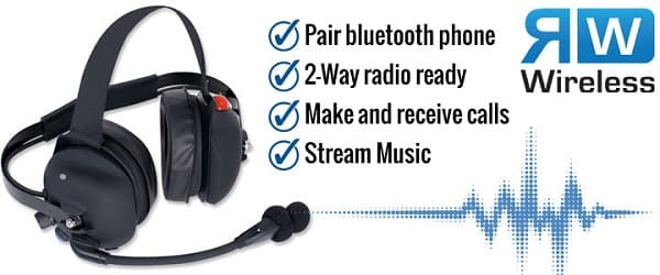 Wireless Cell Phone Headset with 2-way Radio Interface