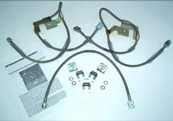 BRAIDED STAINLESS STEEL BRAKE LINE/HOSE KITS