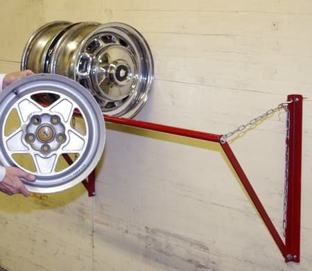 Wheel Storage Rack for Trailers-Adjustable for Size