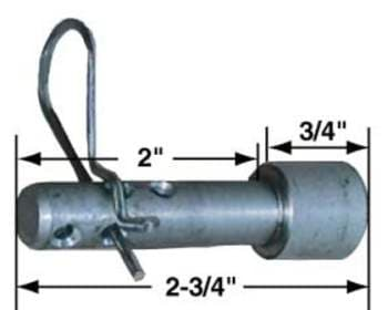 QUICK RELEASE SHOCK PIN WITH CLIP