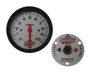QUICKCAR REMOTE 10,000 RPM TACH with REMOTE RECALL