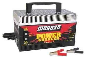 Moroso Power Charger, 16 AND 12 VOLT Battery Charger