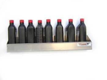 OIL SHELVES, OIL BOTTLE TRAYS
