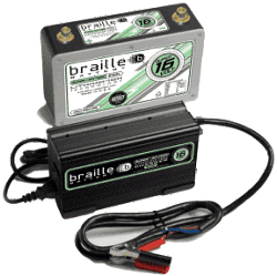 BRAILLE B169L Battery and Charger Combo Package