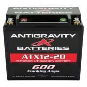 ANTIGRAVITY BATTERIESBattery, OEM Size Lithium, Lithium-ion, 12V, 600 Cranking amp, Threaded Terminals, Top Terminals, 5.90 in L x 5.12 in H x 3.40 in W, Each