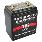 ANTIGRAVITY BATTERIESBattery, Lithium-ion, 12V, 480 Cranking amp, Threaded Terminals, Top Terminals, 4.50 in L x 5.25 in H x 3.25 in W, Each